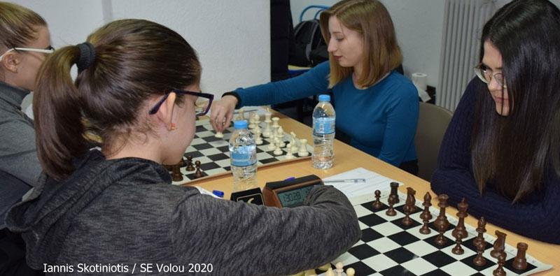η Σκακιστική Ένωση Βόλου υποδέχθηκε την Ακαδημία Σκακιστών Βόλου
